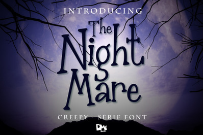 The Nightmare - Creepy Halloween Font