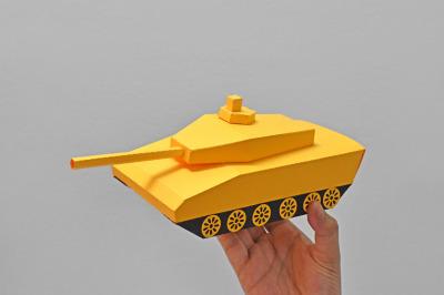 DIY Tank favour - 3d papercraft
