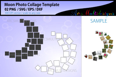 Moon Photo Collage Template
