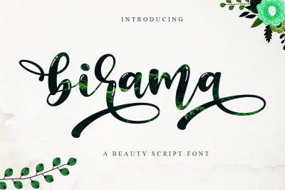 Birama a Beauty Modern Calligraphy Script