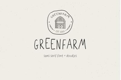 Greenfarm. Rustic Sans Serif font| Dooldles | 12 Logos