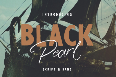 Black Pearl Font Duo + Extras