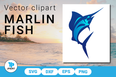 Marlin Fish - SVG DXF EPS PNG