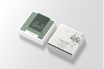 Minimal Square Business Card