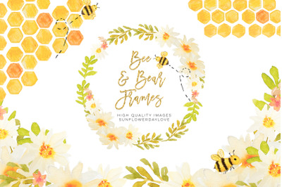 Honey Bee Clipart, Bees Clip Art, Bees Gold Planner Stickers Clipart