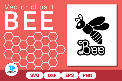 Bee Vector SVG DXF EPS PNG