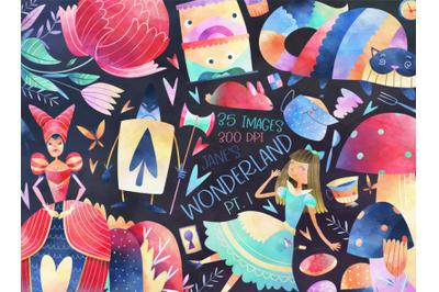 Watercolor Wonderland Clipart
