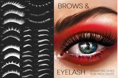 Procreate Eyelashes & Brows brushes Makeup
