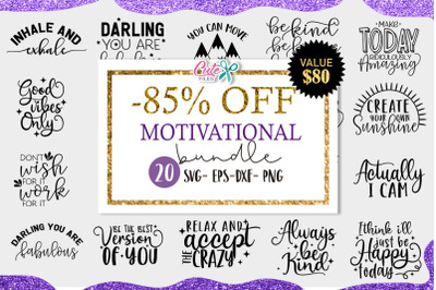 Motivational saying bundle Svg cut files for crafters