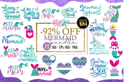 Mermaid bundle svg cut file for crafters