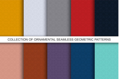 Color ornamental seamless patterns