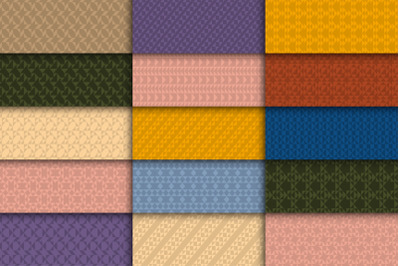 Vintage colorful seamless patterns