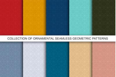 Geometric seamless colorful patterns