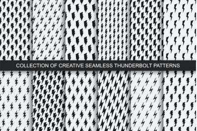 Vector seamless lightning patterns