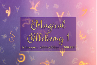 Magical Alchemy 1 - Background Images Textures Set