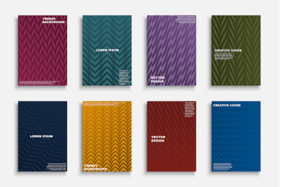 Colorful trendy striped covers