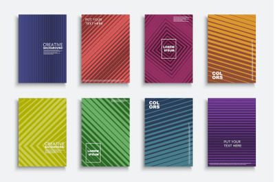 Striped halftone colorful covers