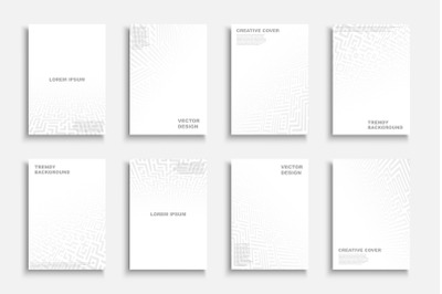 White abstract futuristic covers