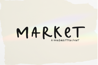 Market - Handwritten Display Font