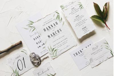 Dusty Green Foliage Wedding Suite