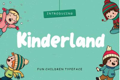 Kinderland Fun Children Typeface