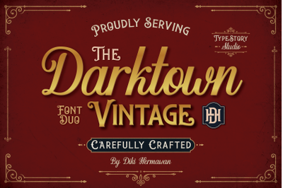 Darktown Vintage Display Font