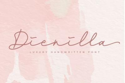 Dienilla -signature font-
