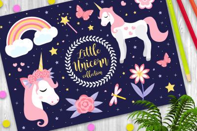 Cute little unicorn set
