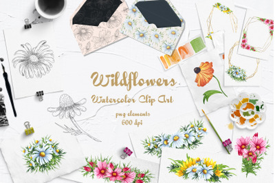 Wildflowers Watercolor Set 600dpi