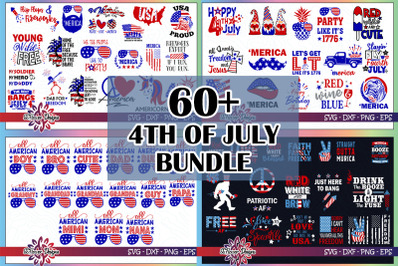 60+ files 4th of July bundle Graphic, 4th of July bundle svg