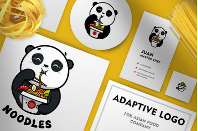 Adaptive logo for asian food