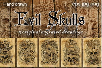 Evil skulls collecion