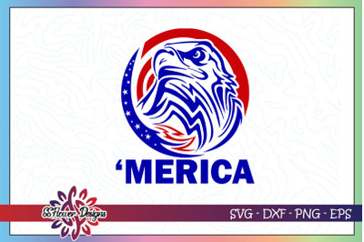 Merica eagle svg, eagle svg, 4th of july