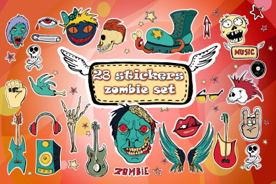 Zombie Sticker Set