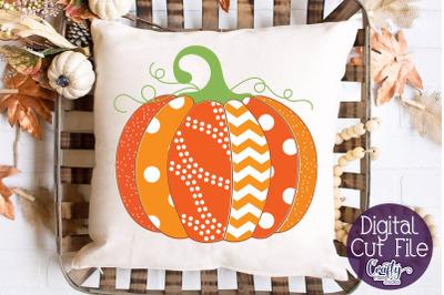 Pumpkin SVG, Patterned Pumpkin Svg, Fall Pumpkin Svg
