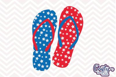 4th of July Svg, Fourth of July Svg, Summer Svg, Flip Flops