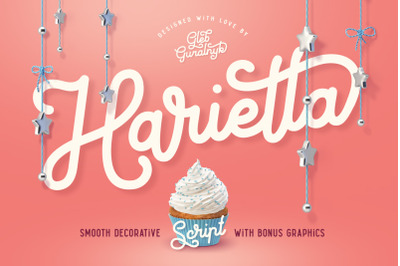 Harietta font and graphics