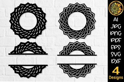 Circular Monogram SVG Cut File Set-1