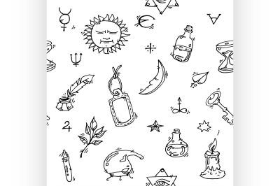 Alchemy symbols pattern
