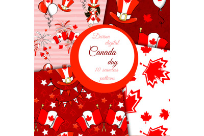 Canada seamless patterns