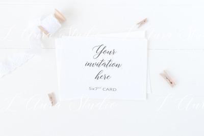 Invitation card mockup - psd/png