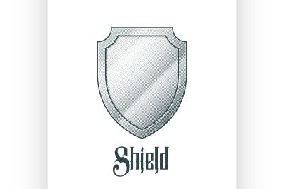 Empty metal shield