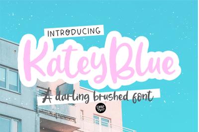 KATEY BLUE a Darling Brushed Font