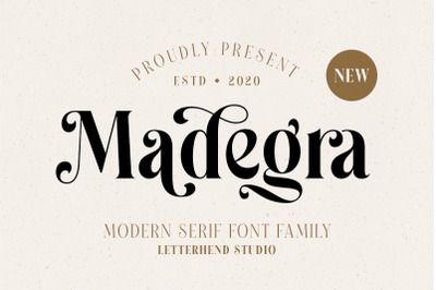 Madegra Serif (9 Weight Font Styles)