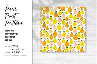 Pear Digital Paper|Pear Fruit Pattern|Vector seamless