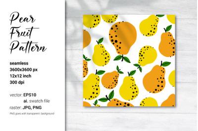 Pear Vector Pattern|Pear Digital Paper|Fruit Pattern