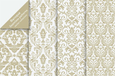 Luxury floral seamless backgrounds