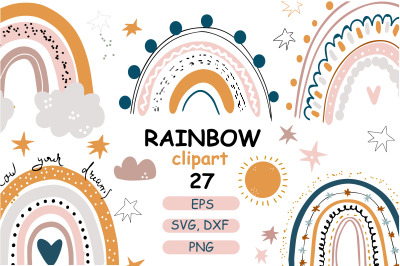 Pastel rainbow baby