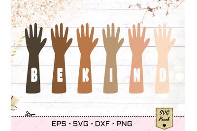 Be Kind Hands SVG