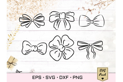 Bow Ribbon and Bow Tie Svg set